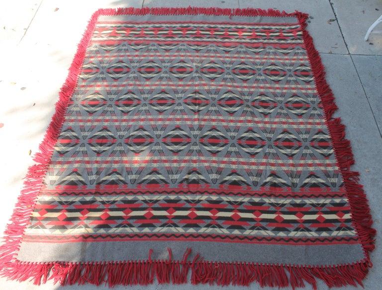 Adirondack Beacon Indian Design Camp Blanket For Sale