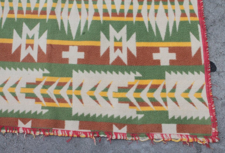 20th Century Beacon Indian Design Camp Blanket For Sale