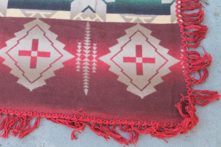 Cotton Beacon Indian Design Camp Blanket For Sale