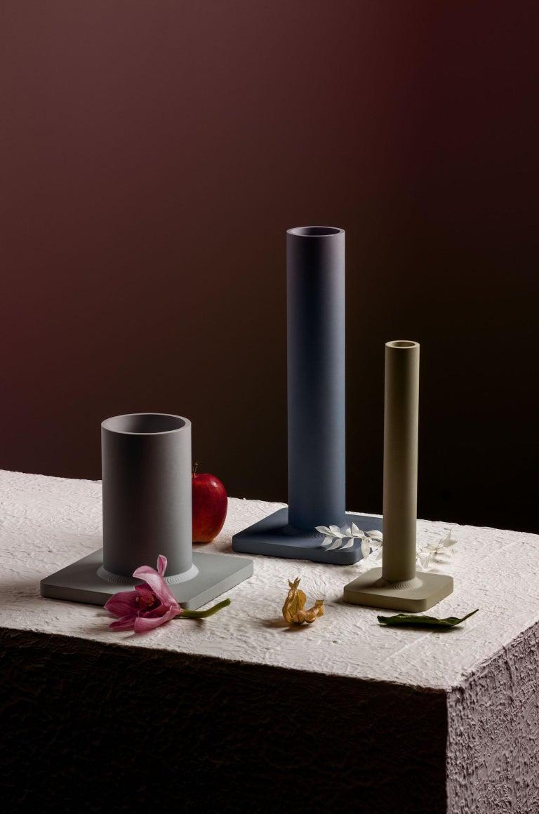 Aluminum Bead Vase 17H Soft Gold For Sale