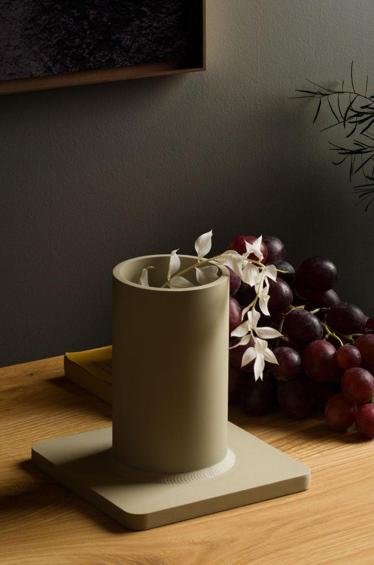 Bead Vase 17H Soft Gold For Sale 2