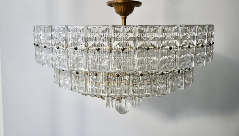Beaded Amethyst Crystal and Murano Glass Flush Mount In Good Condition For Sale In Antwerp, BE