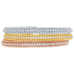 Beaded Diamond Bangles Tricolor Flexible