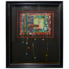 Beaded Pattern Patch Mixed-Media by Bill R.S. Rothove