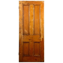 Beaded Victorian Four Panel Interior Door, 20th Century