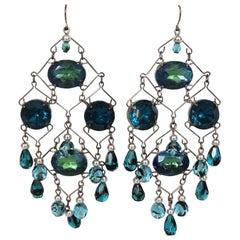 Beaded Wire Dangle Earrings