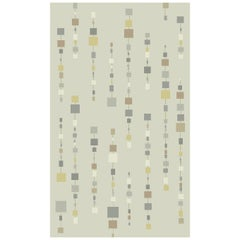 Beads Square Handknotted Wool Rug