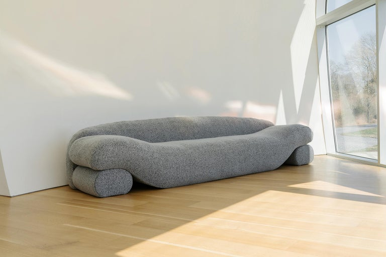 Minimalist Contemporary Eco-friendly Ergonomic Beanbag Beanie Sofa With Integrated Daybeds  For Sale