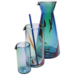 Bear Beaker Mixology Set, Tie Dye, Handmade Contemporary Barware Set, in Stock