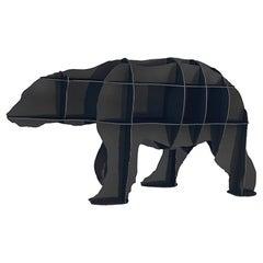 Bear, Black Polar Bear Bookshelf, Made in France