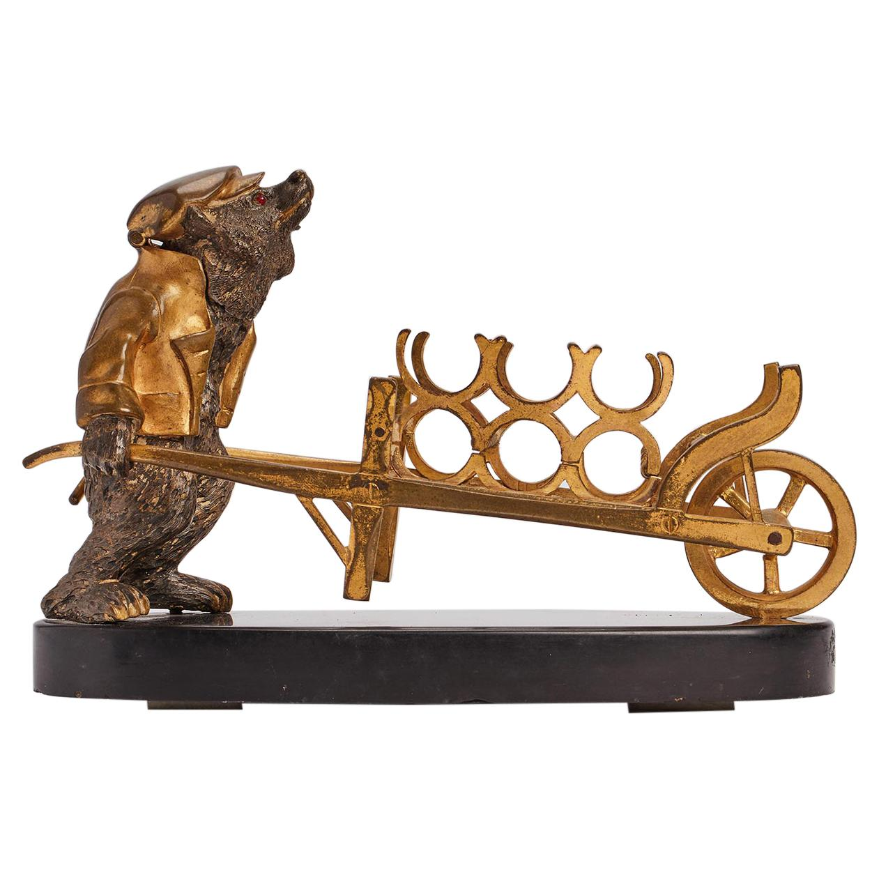 Bear Inkwell and Fountain Pen Holder, Russia, 1880