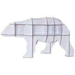 Bear, White Polar Bear Bookshelf, Made in France