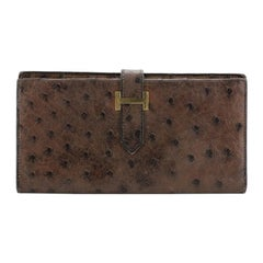 Bearn Wallet Ostrich Long