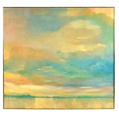Beasley Abstract Expressionist Sunset and Sky Color Field Painting