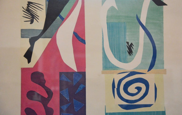 Mid-Century Modern Beast of the Sea after Matisse, Framed Lithograph, 1950