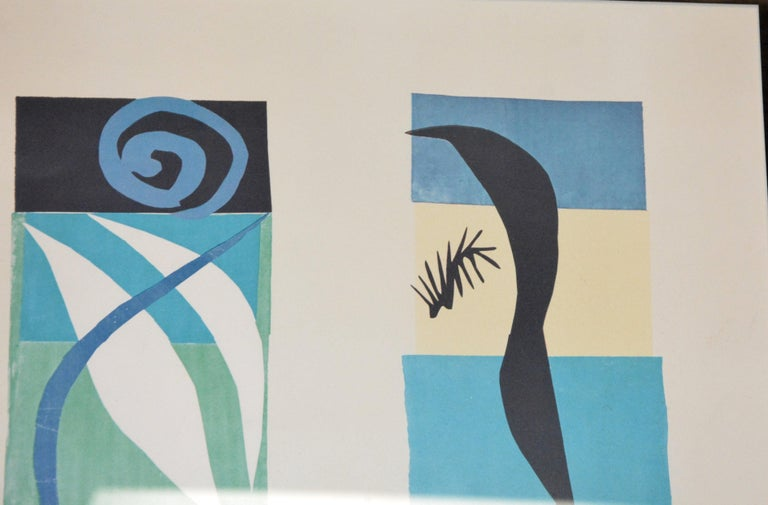 Engraved Beast of the Sea after Matisse, Framed Lithograph, 1950