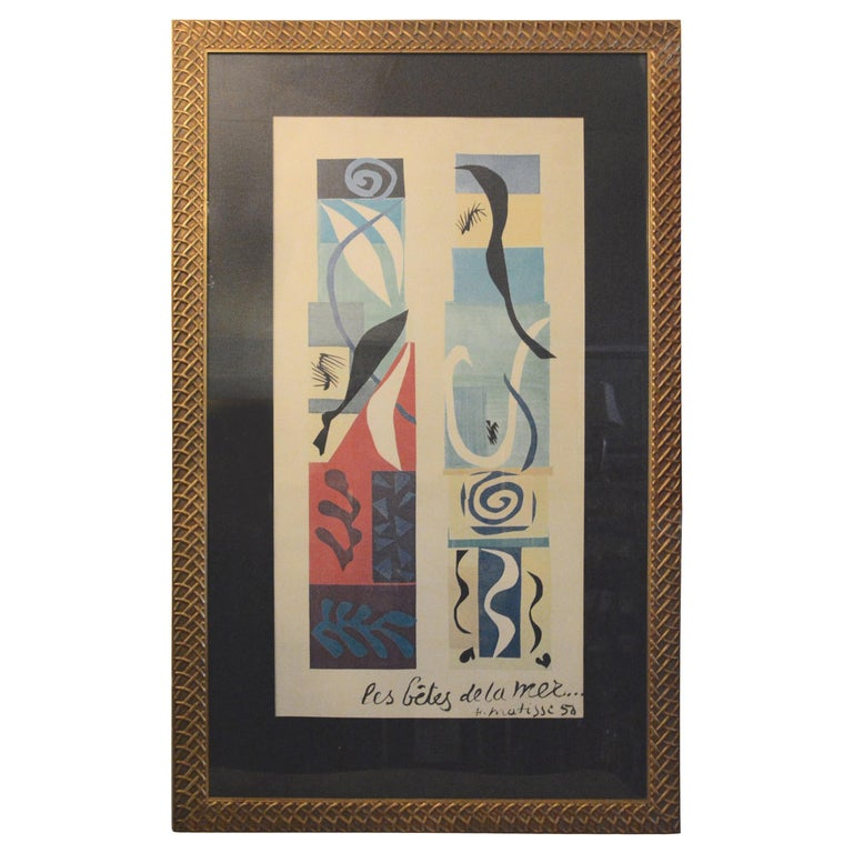 Beast of the Sea after Matisse, Framed Lithograph, 1950