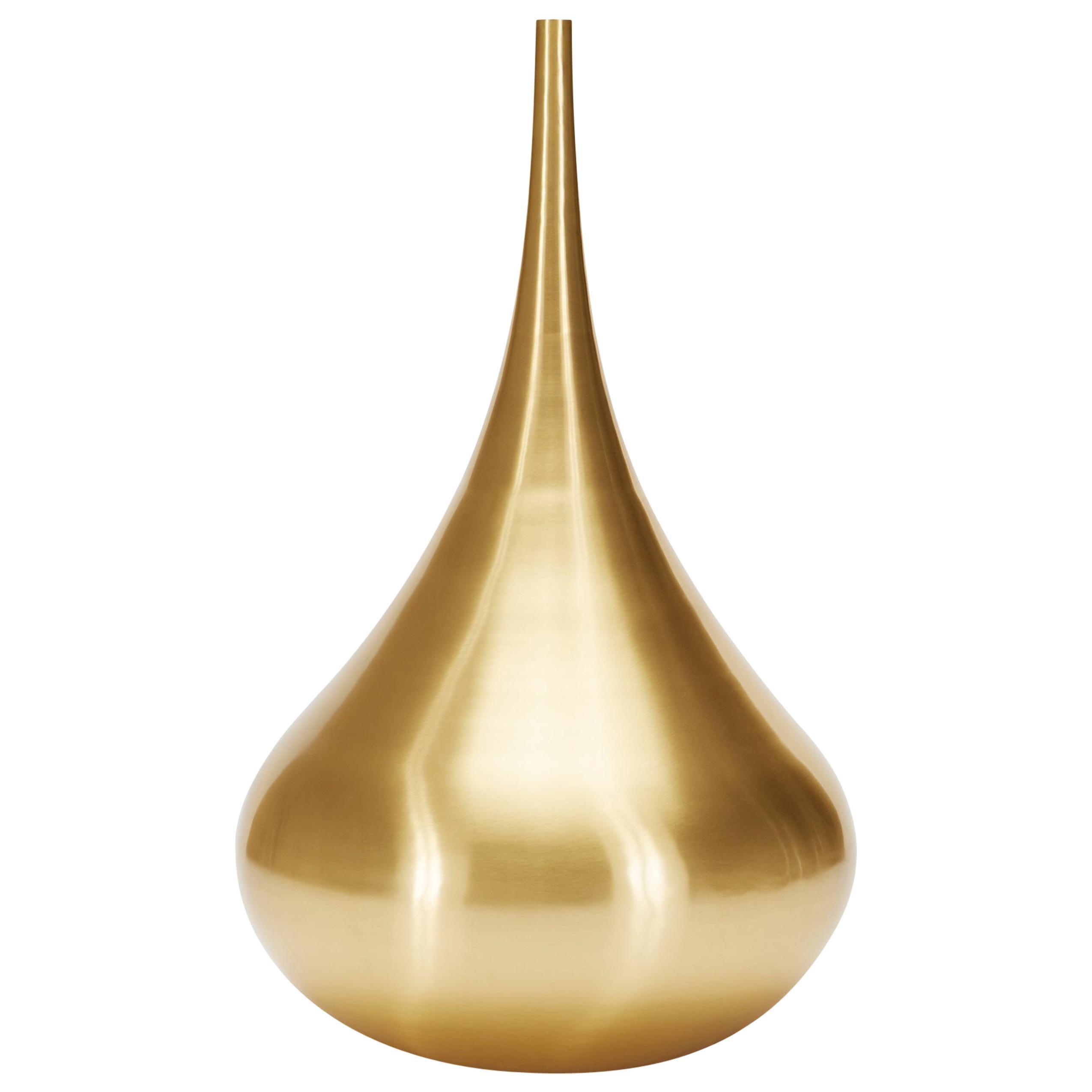 Beat Drop Vessel in Brass by Tom Dixon