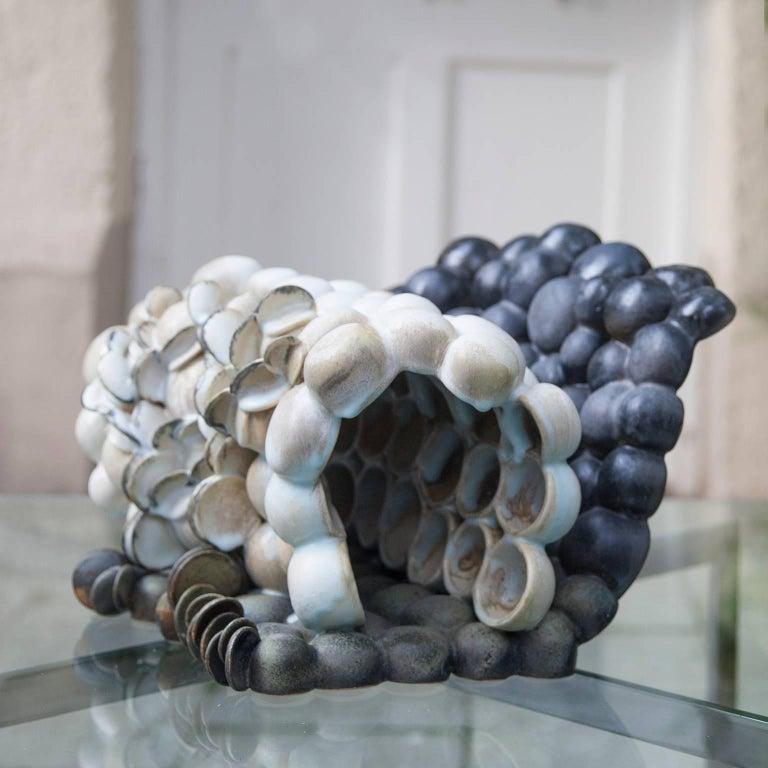 "Stoneware Beate Kuhn Art Pottery ""Bodennebel vor Wald"" 2000 For Sale"