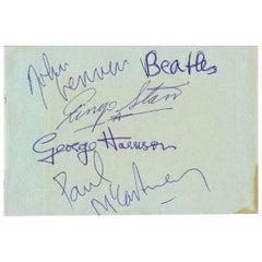 Beatles Autographed Album Page