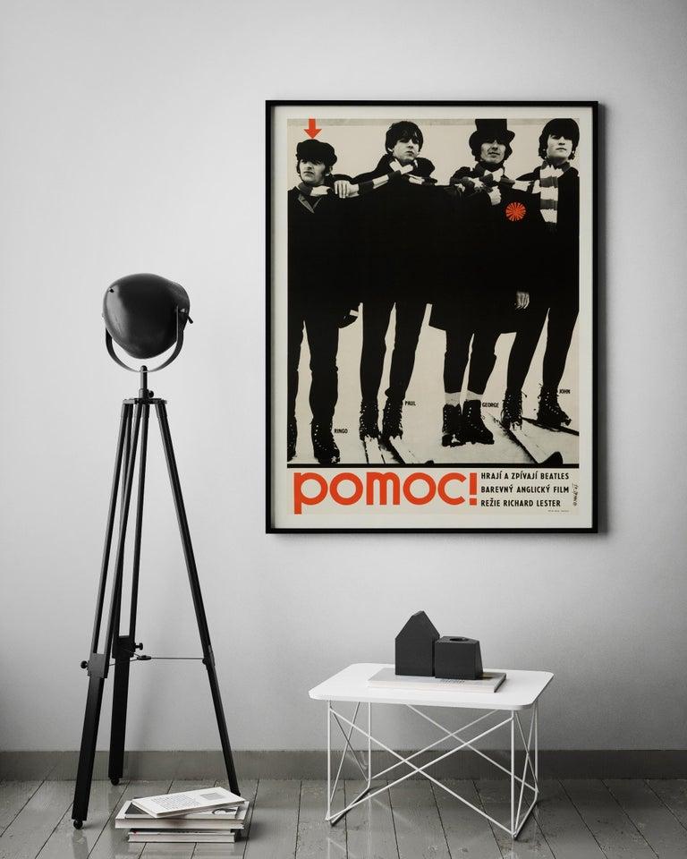 Post-Modern The Beatles 'Help!' Original Vintage Czech Movie Poster, 1967