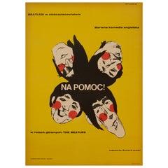 Beatles 'Help!' Polish Film Poster, 1967