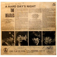 Beatles genuine signed A Hard Day's Night album cover