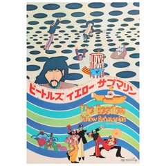 Beatles 'Yellow Submarine' Original Vintage Japanese Movie Poster, 1969