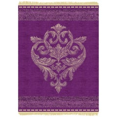 Beatrice - Purple Modern Hand Knotted Wool Silk Rug