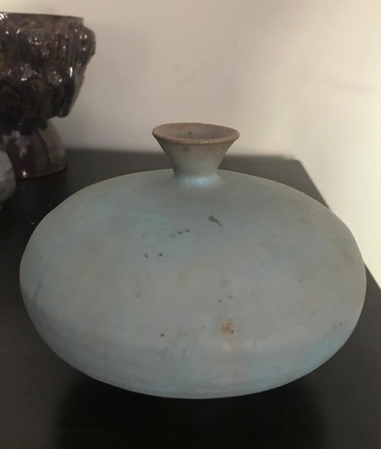 Beatrice Wood Signed Glazed Mid-Century Modern Studio Ceramic Pottery Vase For Sale 4