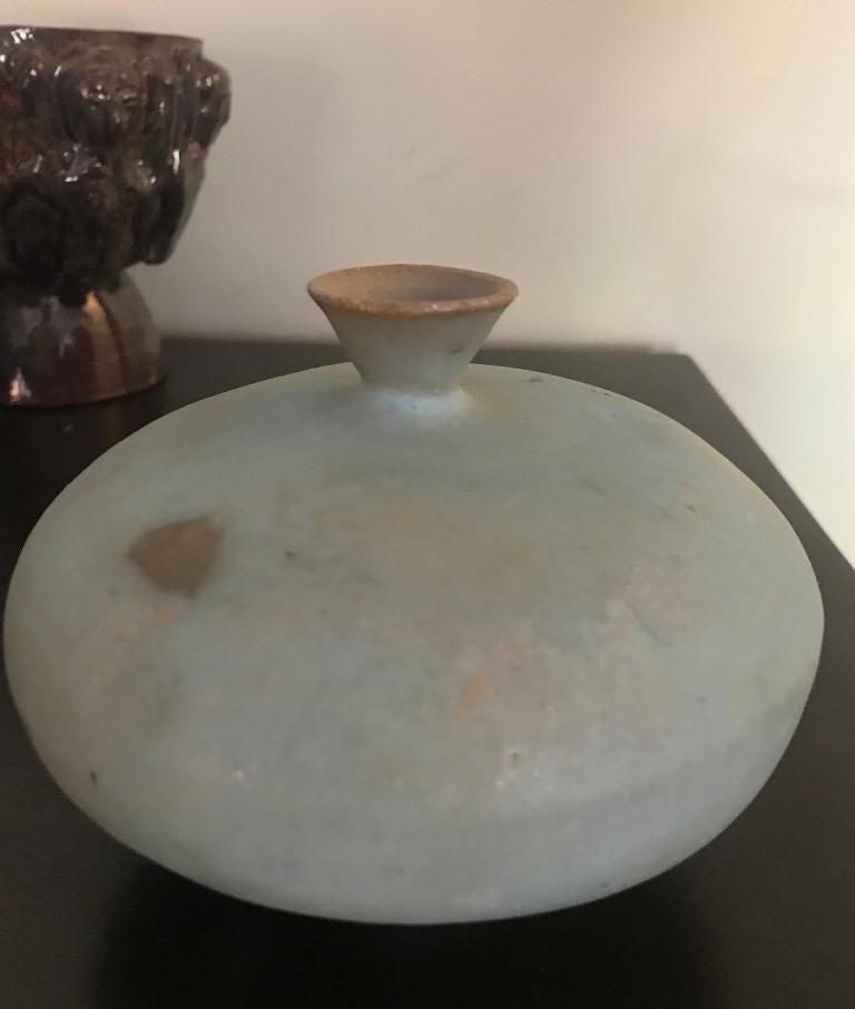 Beatrice Wood Signed Glazed Mid-Century Modern Studio Ceramic Pottery Vase For Sale 3
