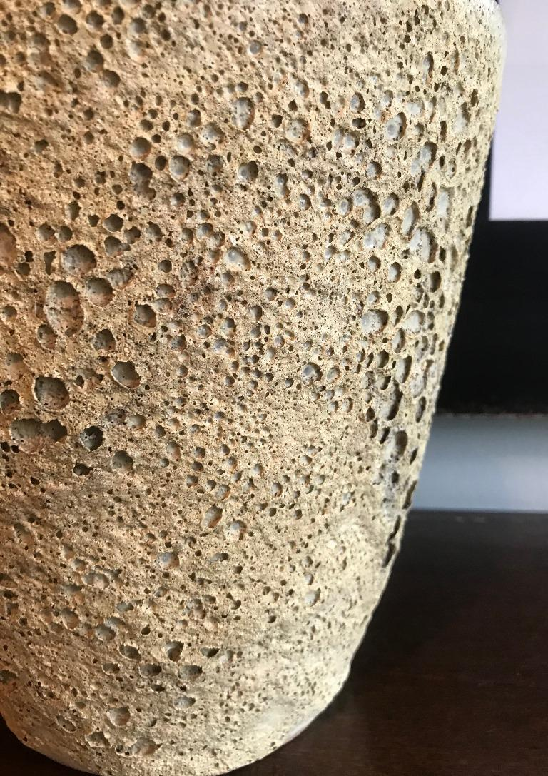 American Beatrice Wood Signed Large Quite Heavy Volcanic Glaze Mid-Century Modern Bowl For Sale