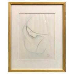 Beatrice Wood Framed, Signed and Dated Original Drawing