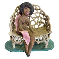 Beatrice Wood Signed Mid-Century Large Figurative Sculpture Chocolate Drop, 1970