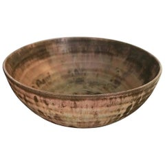 Beatrice Wood Signed Mid-Century Modern California Glazed Studio Ceramic Bowl