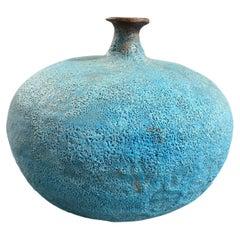 Beatrice Wood Signed Volcanic Lava Glaze Mid-Century Modern Studio Vase Vessel