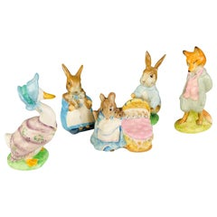 Beatrix Potter's Collectible Animal Figurines Set of 5