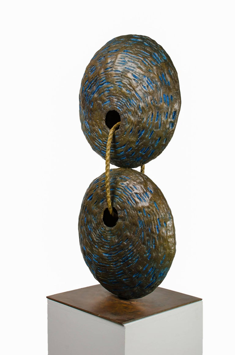 As Above so Below. Bronze sculpture, brown - golden patina by Beatriz Gerenstein