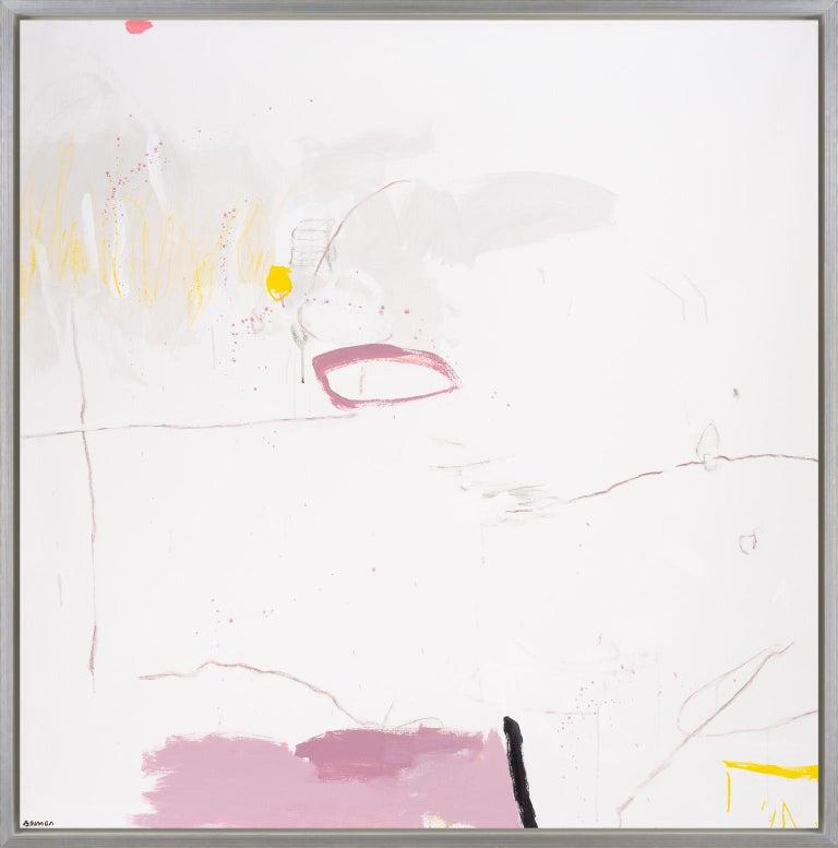 Beatriz Simón Abstract Painting - Bird Whisper & Pink