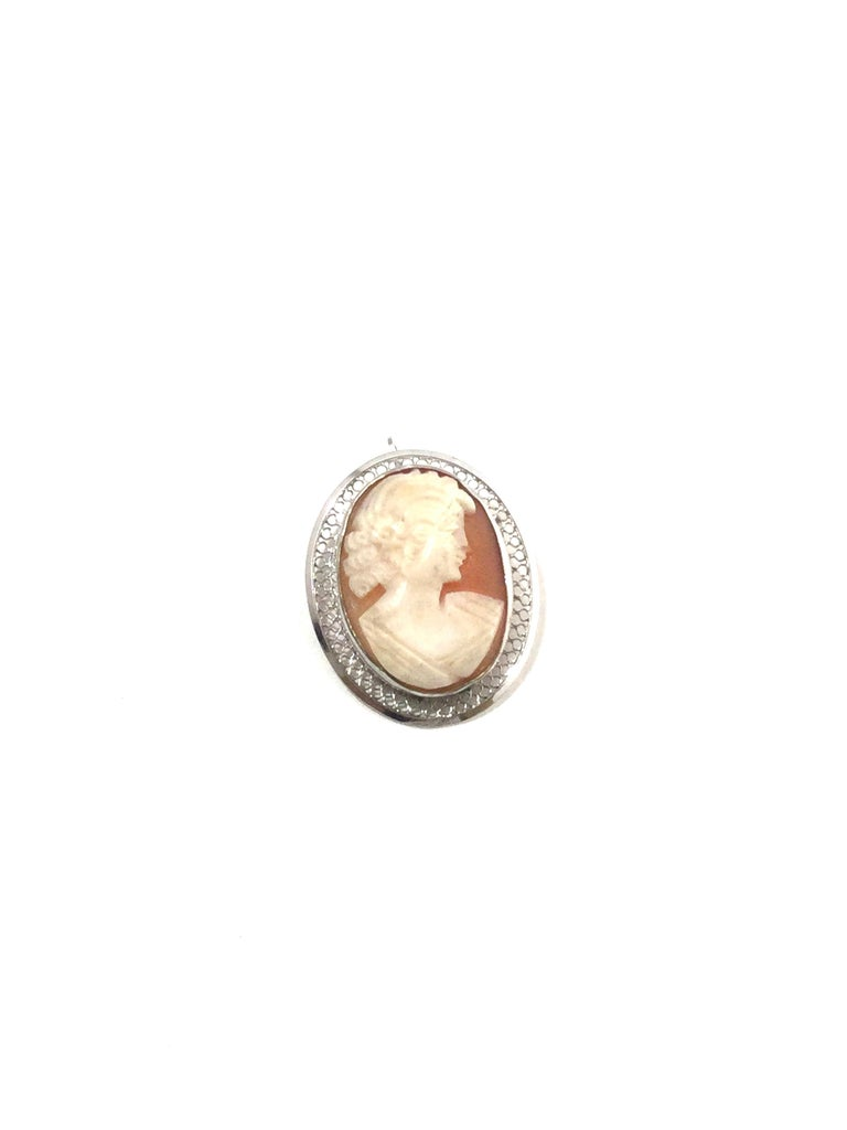 Beau Sterling Silver Cameo Brooch Pin/Pendant 6