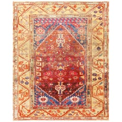"Beautiful 17th Century Tribal Antique Turkish Kula Rug. Size: 5' 8"" x 6' 9"""