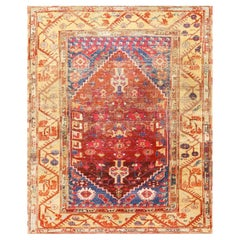 "Beautiful 17th Century Tribal Antique Turkish Kula Rug. Size: 5' 8"" x 6' 9"""