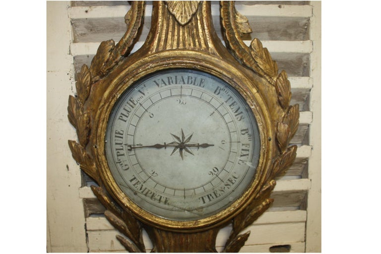 Beautiful 18th Century French Barometer In Good Condition In Atlanta, GA