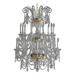 Beautiful 18th Century Style Crystal and Blown Glass Chandelier