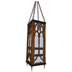 Beautiful 1920s Gothic Wood Lantern