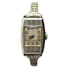 Beautiful 1930s Ladies Art Deco Wrist Watch by Gruen