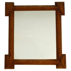 Beautiful 1930s Wall Mirror with a High Quality Wooden Frame
