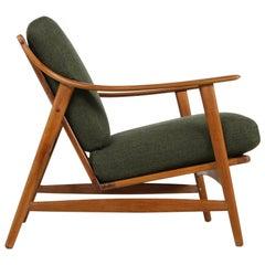 Beautiful 1960s Arne Hovmand Olsen Teak Easy Lounge Chair, Danish Modern