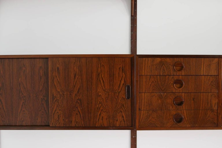 Beautiful 1960s Wall Unit Rud Thygesen & Johnny Sorensen Shelving HG Furniture For Sale 3
