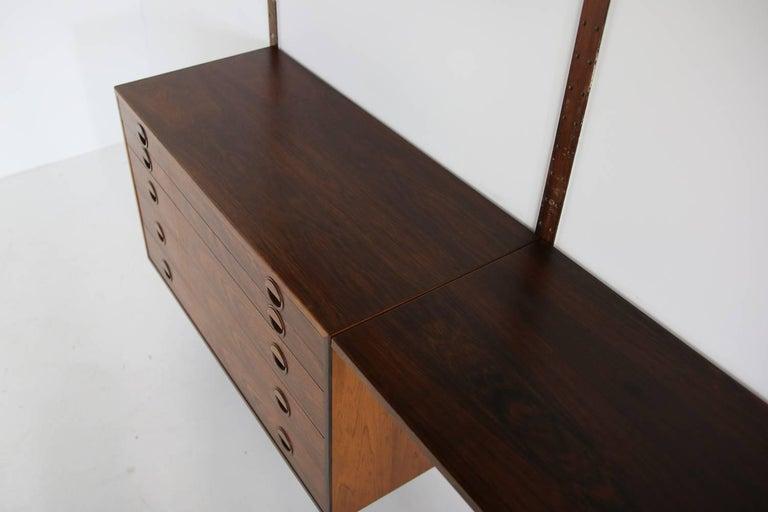 Danish Beautiful 1960s Wall Unit Rud Thygesen & Johnny Sorensen Shelving HG Furniture For Sale
